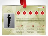 Business Identity Website Template With Lanyard