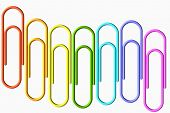 Colored Paper-clips Wave