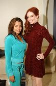 Vida Guerra and Phoebe Price on the set of