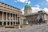 Budapest, Buda Castle Or Royal Palace With Horse Statue, Hungary