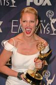 Katherine Heigl in the press room at the 59th Annual Primetime Emmy Awards. The Shrine Auditorium, L