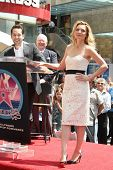 Paul Rudd and Michelle Pfeiffer at the ceremony honoring Michelle Pfeiffer with the 2,345th star on