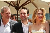 Jeff Bridges with Paul Rudd and Michelle Pfeiffer at the ceremony honoring Michelle Pfeiffer with th