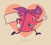 Isolated valentines gift box cartoon character