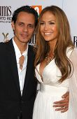 Marc Anthony and Jennifer Lopez at the Los Angeles Premiere of