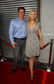Joshua Feinman and Elle Travis at the Los Angeles premiere