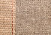 Burlap Background With Sacking Ribbon