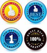 Vector set of guarantee label