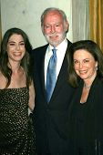 Amanda Goldberg and her parents at the Women's Guild 50th Anniversary Fundraising Gala. Beverly Wils