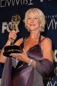 Helen Mirren in the press room at the 59th Annual Primetime Emmy Awards. The Shrine Auditorium, Los Angeles, CA. 09-16-07