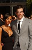 Dania Ramirez and Zachary Quinto  arriving at the 59th Annual Primetime Emmy Awards. The Shrine Auditorium, Los Angeles, CA. 09-16-07