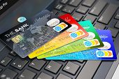 stock photo of debit card  - Internet banking - JPG