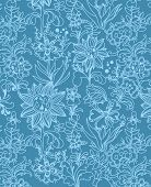 floral  background, vector design. blue flowers