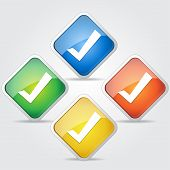 Glossy Tick Mark Button Icon