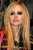 Avril Lavigne at an instore appearance to promote her new CD