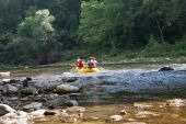 Summer fun Whitewater Rafting down a Wilderness River