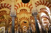 Columns In The Mosque Of Cordova,  Spain