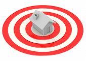 One House in Bulls-Eye Target