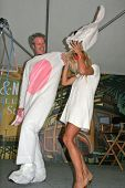 PETA Chief Dan Matthews and Pamela Anderson at the L.A. Times Festival of Books, promoting