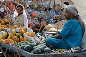 Street Stall With The Vegetables In India