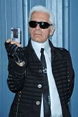 Karl Lagerfeld  at the 2007/2008 Chanel Cruise Show Presented by Karl Lagerfeld. Hanger 8, Santa Mon