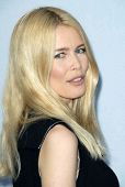 Claudia Schiffer  at the 2007/2008 Chanel Cruise Show Presented by Karl Lagerfeld. Hanger 8, Santa M