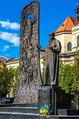 Monument To Ukrainian Poet Taras Shevchenko (1814-1861) In Lviv, Ukraine