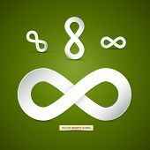 pic of infinity symbol  - Vector Paper Infinity Symbol on Green Background - JPG