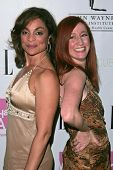Jasmine Guy and Vicki Lewis at