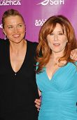 Lucy Lawless and Mary McDonnell at