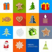 Sixteen Christmas Vector Backgrounds Set