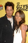 Chris Cornell and wife Vicky in the press room at Spike TV's