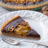 Pears Chocolate Tart