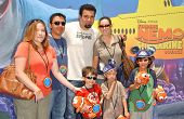 Ricardo Chavira with son Tomas and friends at the Opening of Disneyland's