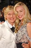 Ellen DeGeneres and Portia de Rossi at the 34th Annual Daytime Emmy Awards. Kodak Theater, Hollywood, CA. 06-15-07
