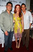 Bill Bakho with Phoebe Price and James Pereyra at the launch of Phoebe's Phantasy by Lotion Glow. Kaje Boutique, Beverly Hills, CA. 06-16-07