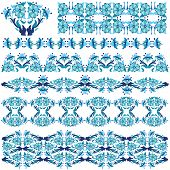 Blue Oriental Border And Ornament Eleven