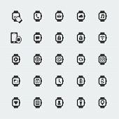 Large Smart Watch Vector Icons Set