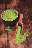 foto of chlorella  - Green food supplements - JPG