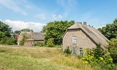 Old Abandoned Farm House With Thatched Roof