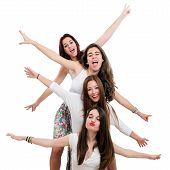 Teen Girls Having Fun In Studio