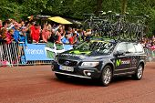 Movistar team in the Tour de France