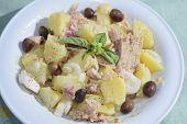 Salad Patatoes And Tuna