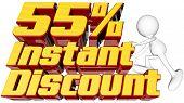 Instant 55 Percent Discount