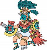 Aztec god, color version