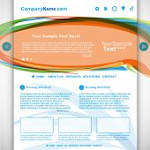 Website design colorful, vector
