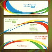 Web header template design, vector