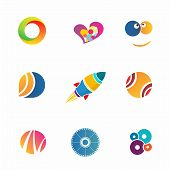 Colorful Abstact Icons Set