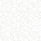 Seamless white triangulated origami pattern
