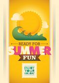 Colorful summer poster. Vector illustration.